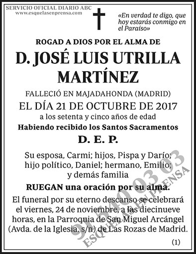 José Luis Utrilla Martínez